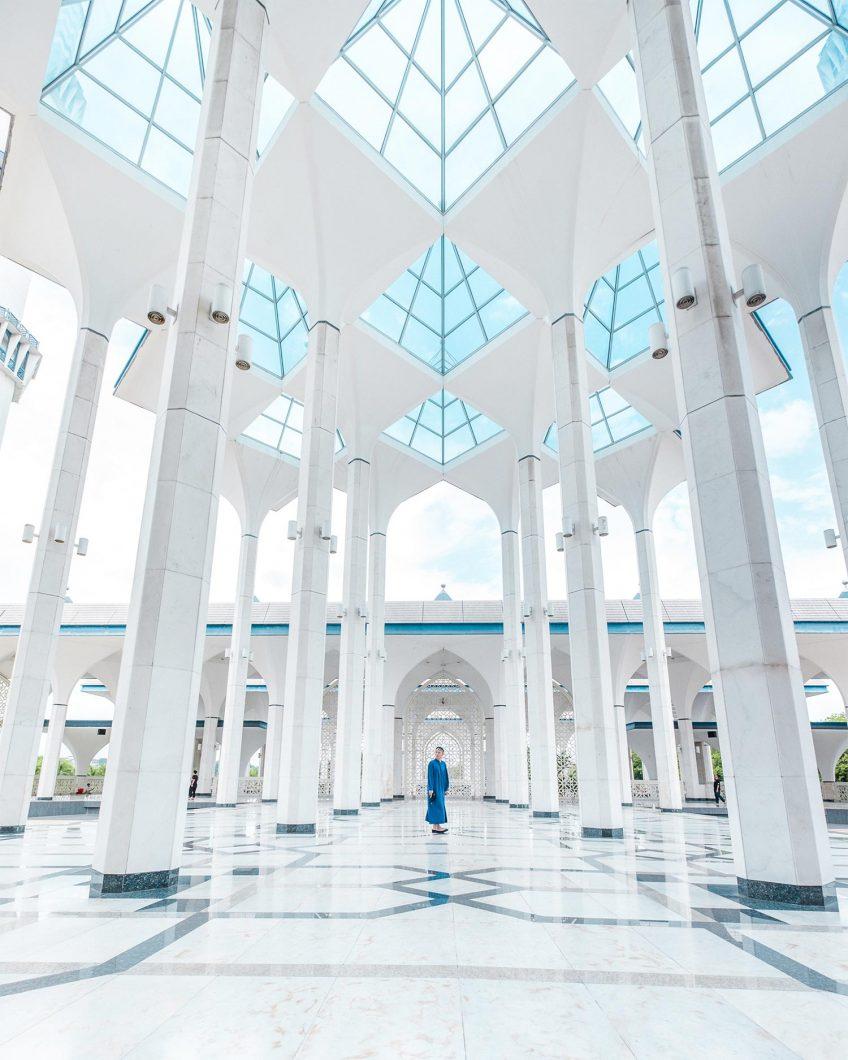 Inside Blue Mosque - Blue Mosque Selangor, Malaysia