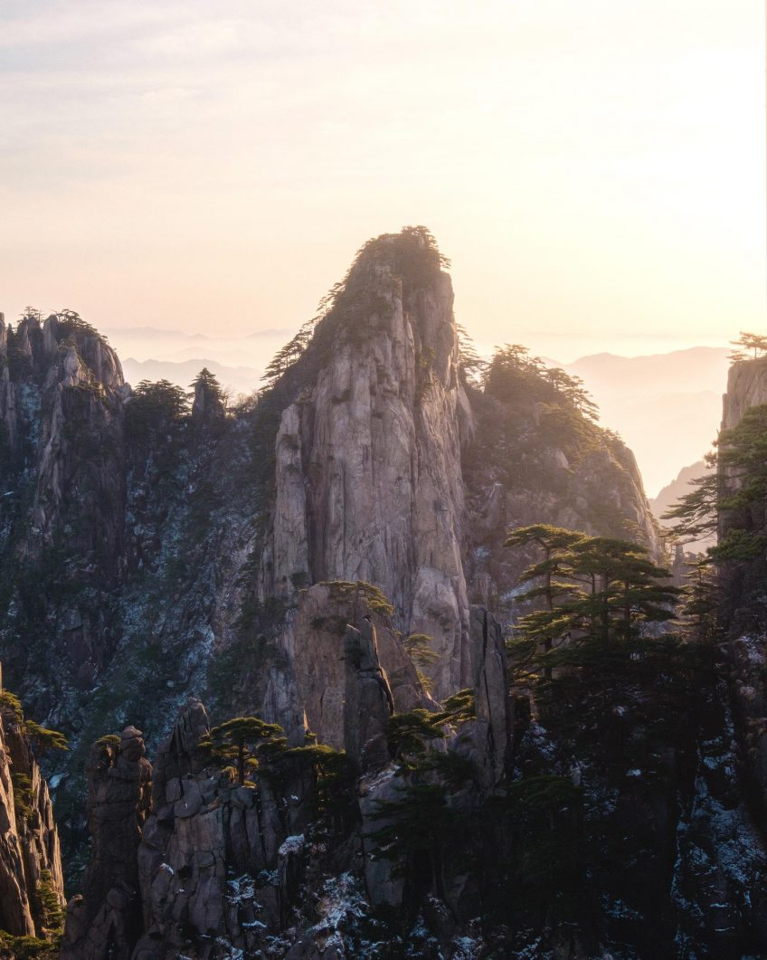 First Sunrise of 2018 - Huangshan, China