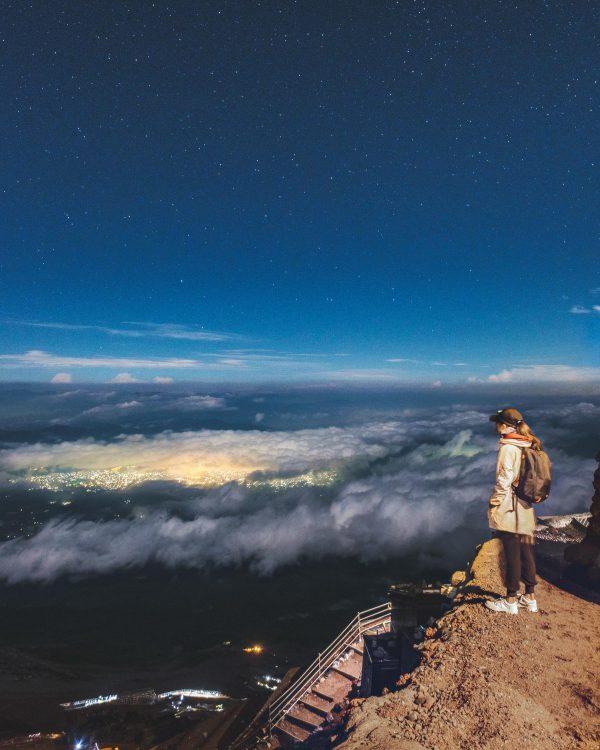 Night time on Mt Fuji